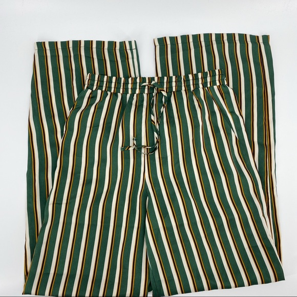 Forever 21 wide leg high rise striped pants